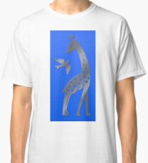 Giraffe and bird - perforated sheet design Classic T-Shirt