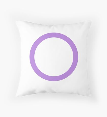 Gender Neutrality Symbol Throw Pillow