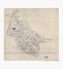 Civil War Maps 2000 Map of Hanover County Va Photographic Print