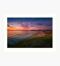 Beach Sunset, Fistral Beach Art Print