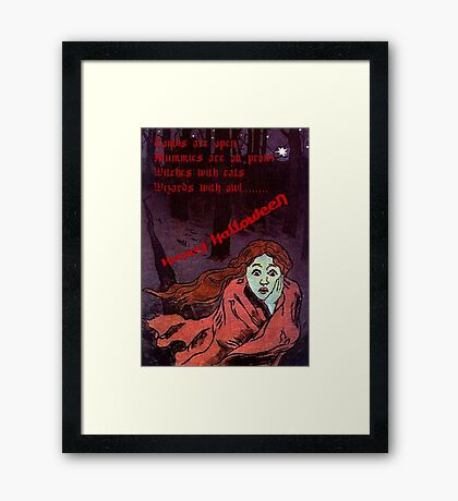 Happy Halloween The Tombs are Open Greeting   Framed Print