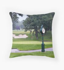 Camel Sand Trap on Golf Course Throw Pillow