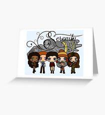 Firefly - Serenity and Crew Greeting Card