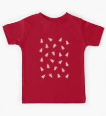 Pixel Forest Pattern in Vintage Red Kids Clothes