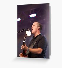 Jason Isbell on Stage Greeting Card