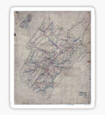 Civil War Maps 1544 Rockbridge Co Va Sticker