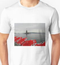 The Maiden Tower in the Rain, Istanbul Unisex T-Shirt