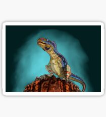Majungasaurus, a theropod dinosaur from the Cretaceous Period. Sticker