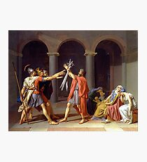 Oath of the Horatii by Jacques-Louis David (1784) Photographic Print