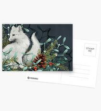 Arctic Fox Holiday Portrait Postcards