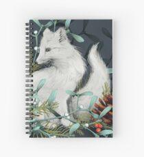 Arctic Fox Holiday Portrait Spiral Notebook