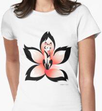 Hana (Flower) Kitsune Women's Fitted T-Shirt