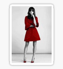 Jenna Coleman in Red Sticker