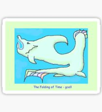 The Folding of Time Sticker