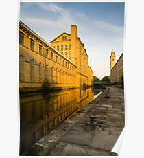 Salt's Mill at Dawn, Saltaire, Yorkshire Poster