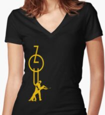 lets dance zouk - yellow Women's Fitted V-Neck T-Shirt