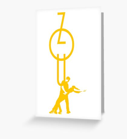 lets dance zouk - yellow Greeting Card