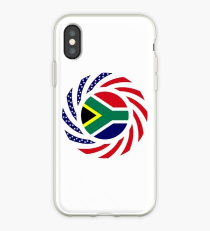South African American Multinational Patriot Flag Series iPhone Case