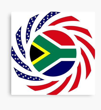 South African American Multinational Patriot Flag Series Canvas Print