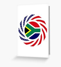 South African American Multinational Patriot Flag Series Greeting Card