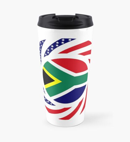 South African American Multinational Patriot Flag Series Travel Mug