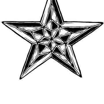 Black and White Nautical Star by Sladeside