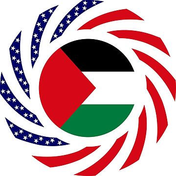 Palestinian American Multinational Patriot Flag Series by carbonfibreme