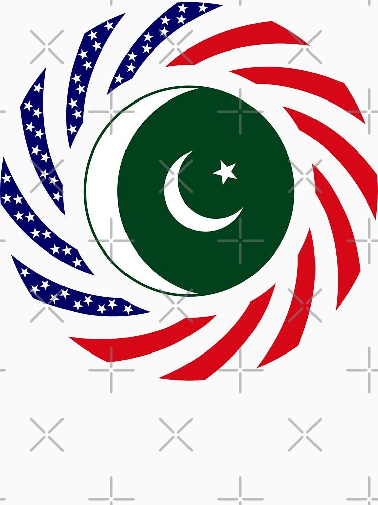 Pakistani American Multinational Patriot Flag Series by carbonfibreme