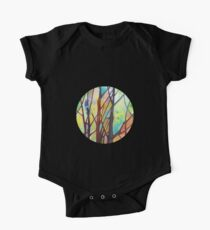 Girl climbing a tree painting - 2012 One Piece - Short Sleeve
