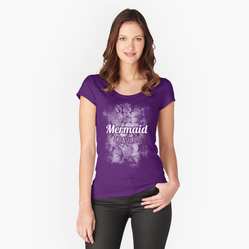 Mermaid Treasures Women's Fitted Scoop T-Shirt Front