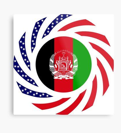 Afghani American Multinational Patriot Flag Series Metal Print