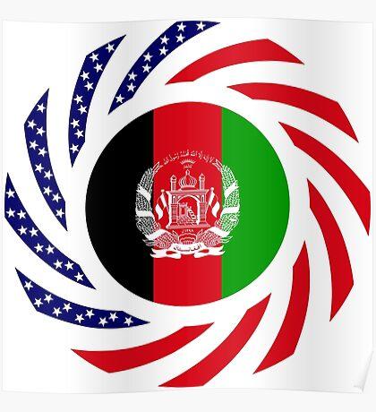 Afghani American Multinational Patriot Flag Series Poster