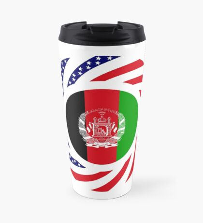 Afghani American Multinational Patriot Flag Series Travel Mug