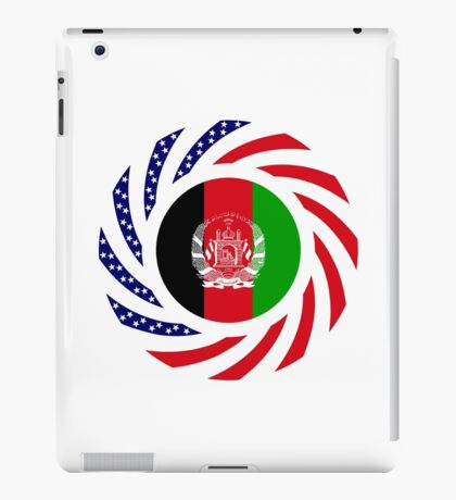 Afghani American Multinational Patriot Flag Series iPad Case/Skin