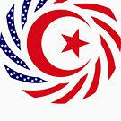 Muslim American Multinational Patriot Flag Series 1.0 by Carbon-Fibre Media
