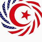 Muslim American Multinational Patriot Flag Series 1.0 by Carbon-Fibre Media