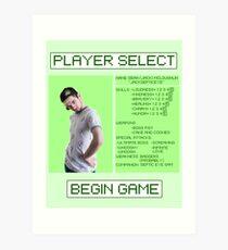 Jacksepticeye Player Select Screen Art Print