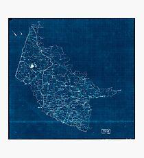 Civil War Maps 2000 Map of Hanover County Va Inverted Photographic Print