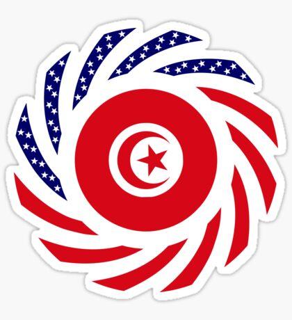 Tunisian American Multinational Patriot Flag Series Sticker