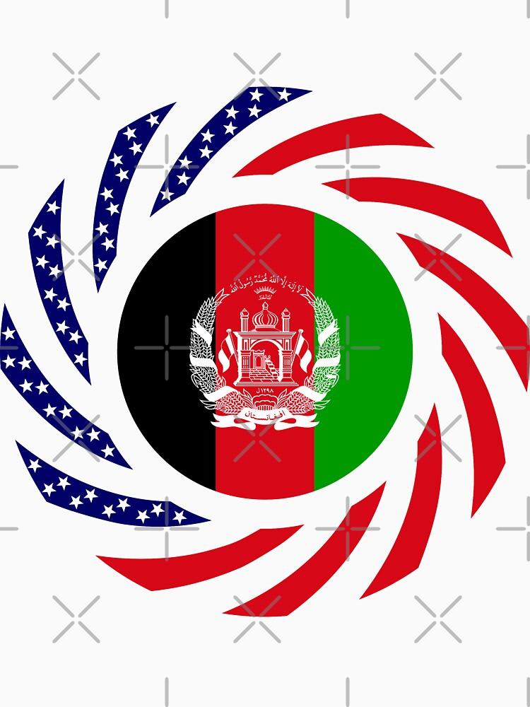 Afghani American Multinational Patriot Flag Series by carbonfibreme