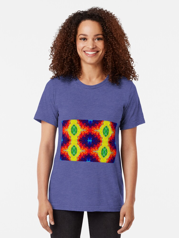 Alternate view of Psychedelic Abstract colourful work S7(Tile) Tri-blend T-Shirt