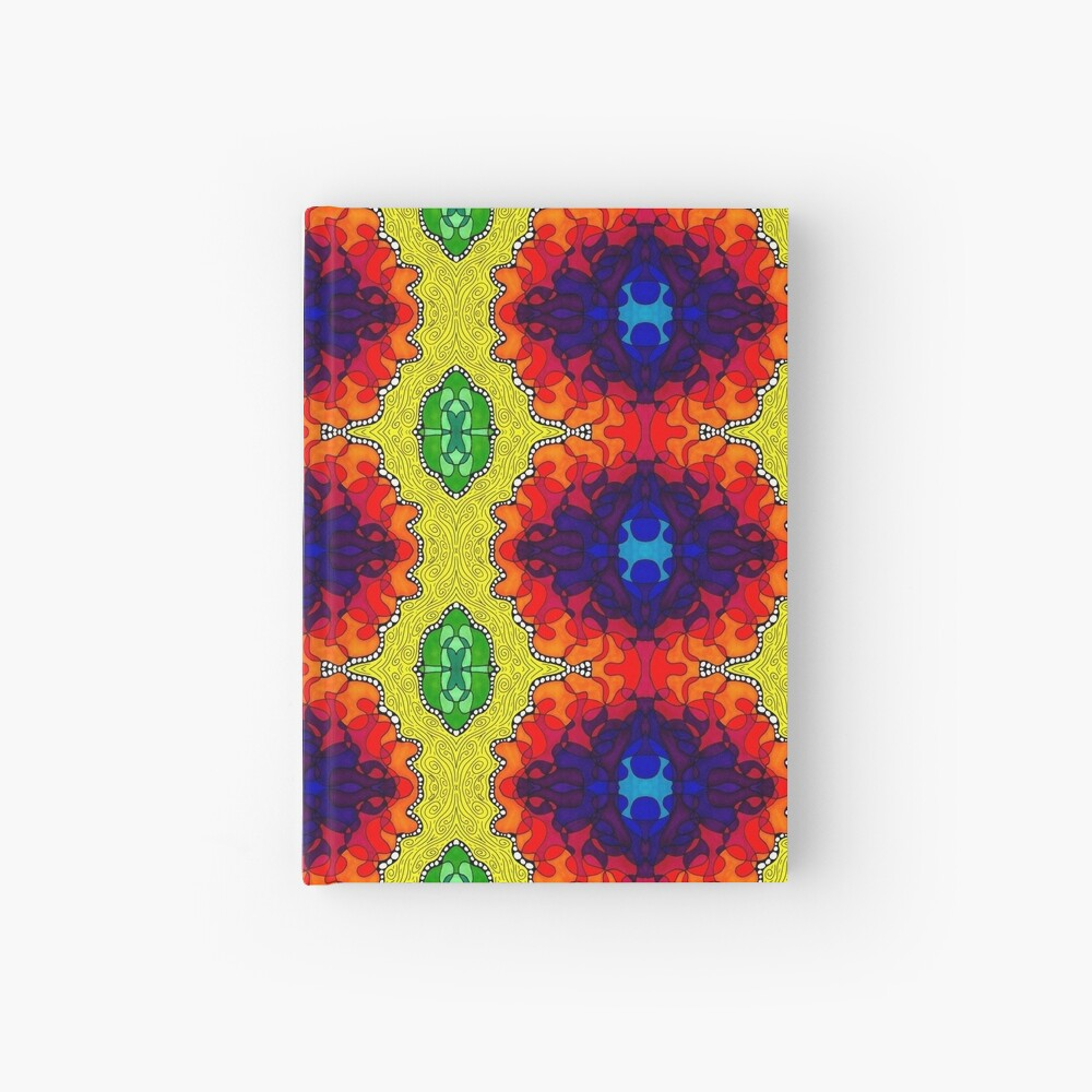 Psychedelic Abstract colourful work S7(Tile) Hardcover Journal