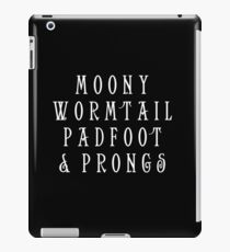 Moony Wormtail Padfoot and Prongs white iPad Case/Skin