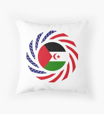 Sahrawi Arab Democratic Republic American Multinational Patriot Flag Series Throw Pillow
