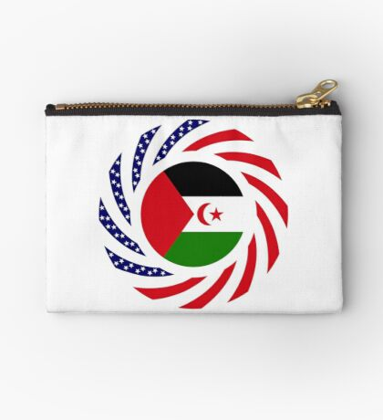 Sahrawi Arab Democratic Republic American Multinational Patriot Flag Series Zipper Pouch