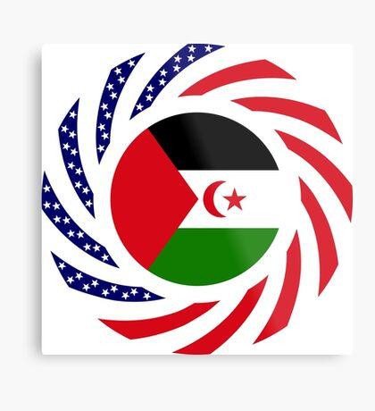 Sahrawi Arab Democratic Republic American Multinational Patriot Flag Series Metal Print