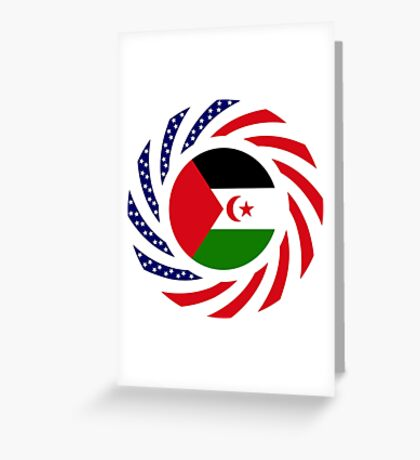 Sahrawi Arab Democratic Republic American Multinational Patriot Flag Series Greeting Card