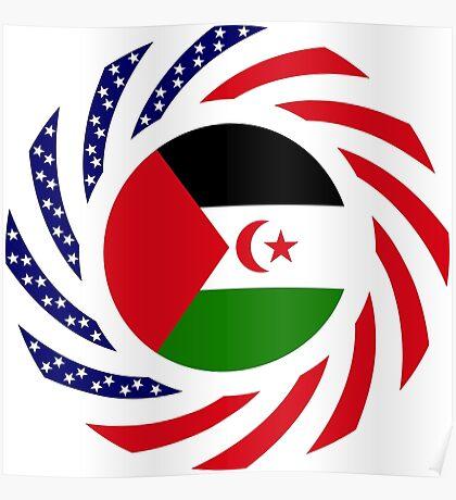 Sahrawi Arab Democratic Republic American Multinational Patriot Flag Series Poster