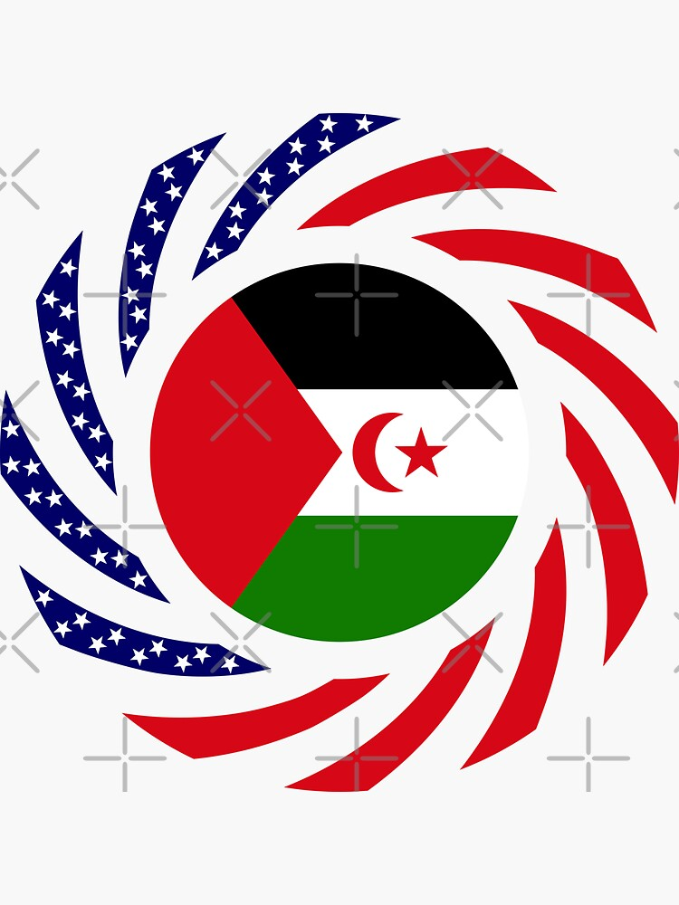 Sahrawi Arab Democratic Republic American Multinational Patriot Flag Series by carbonfibreme