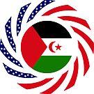 Sahrawi Arab Democratic Republic American Multinational Patriot Flag Series by Carbon-Fibre Media